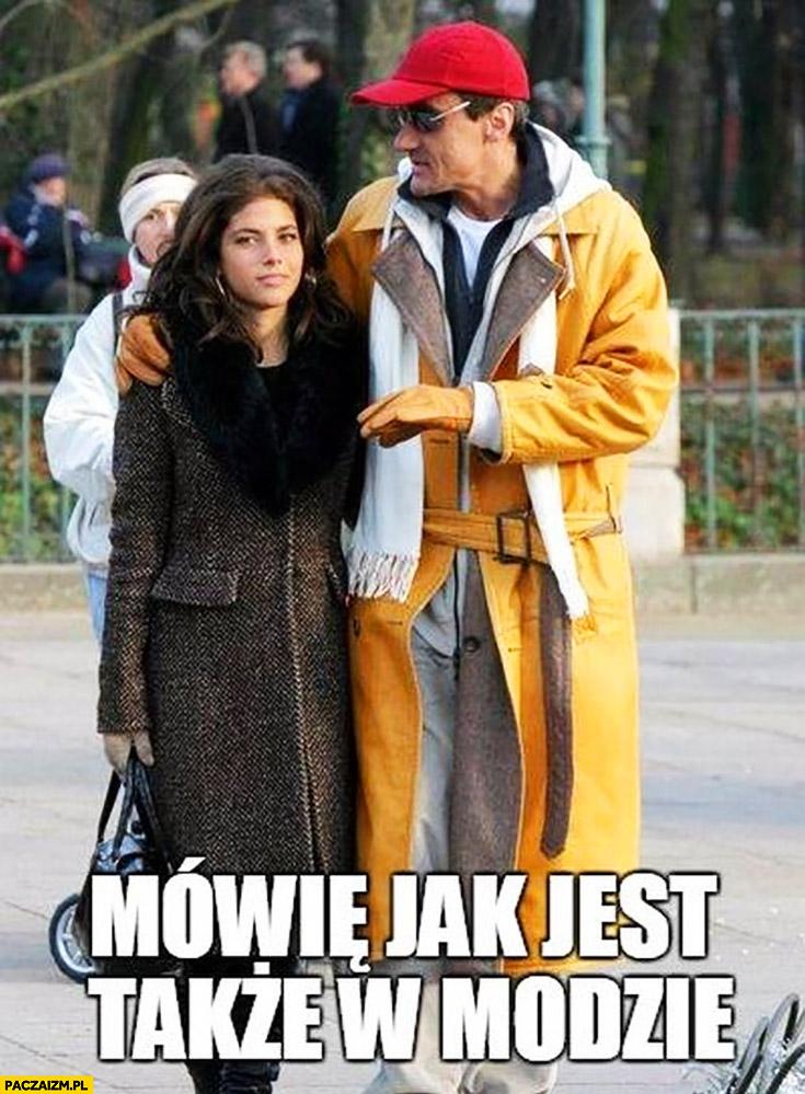 Mówię jak jest także w modzie Max Kolonko Rosati dziwny ubiór pomarańczowy płaszcz