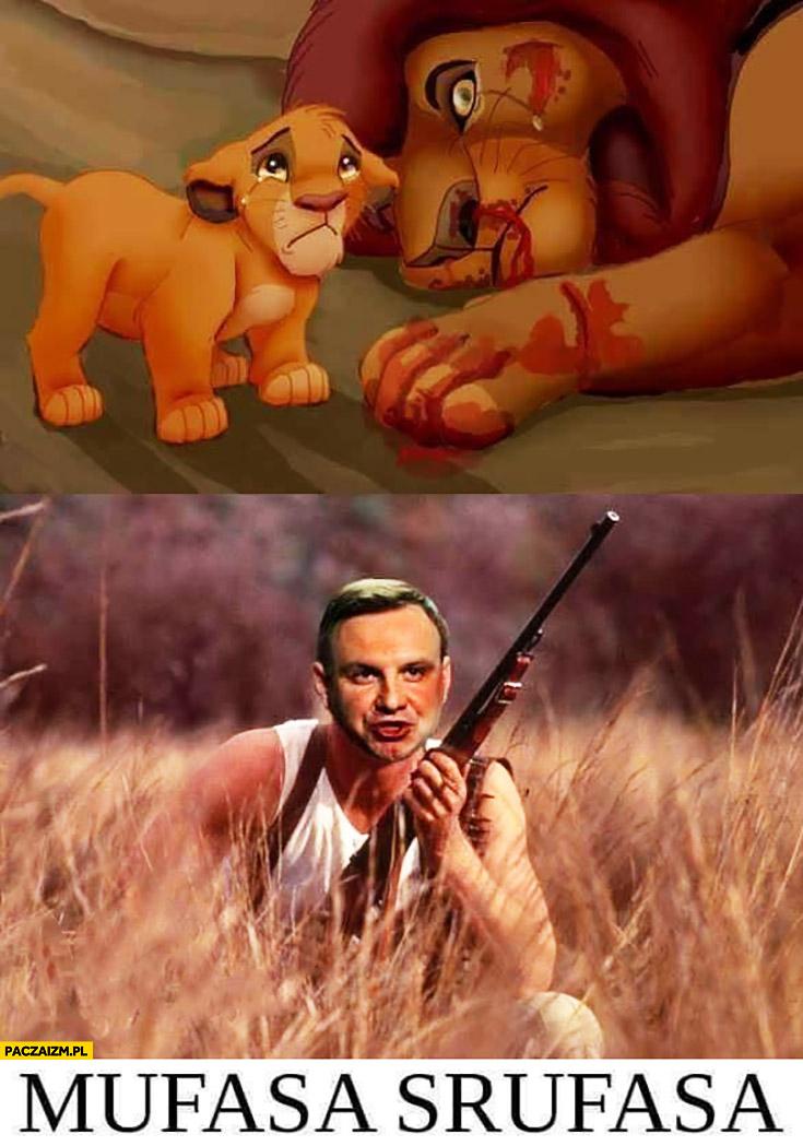 Mufasa Srufasa Andrzej Duda zastrzelił ze strzelbą Król lew
