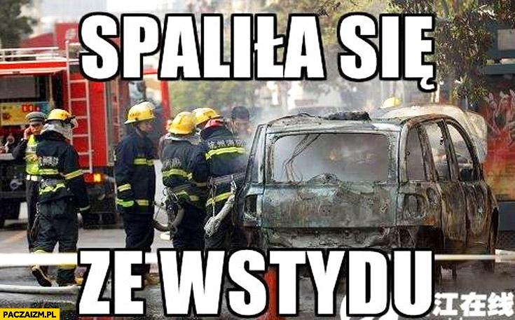 Multipla spaliła się ze wstydu