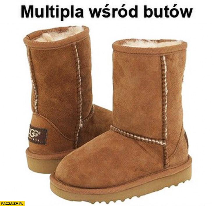 Multipla wśród butów zimowe kozaki