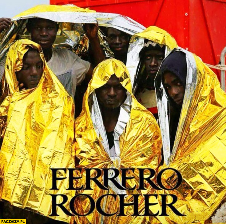 Murzyni w folii aluminiowej wyglądają jak Ferrero Rocher