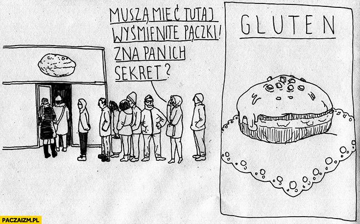 Muszą mieć tutaj wyśmienite pączki, zna pan ich sekret? Gluten