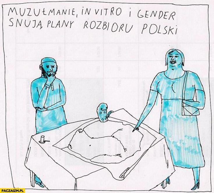 Muzułmanie, in vitro i gender snują plany rozbioru Polski