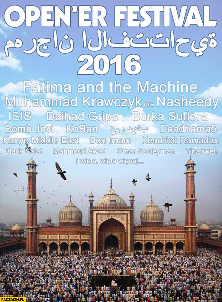 Muzułmaśski Open'er festival 2016 Fatima and the machine ISIS Muhammad Krawczyk