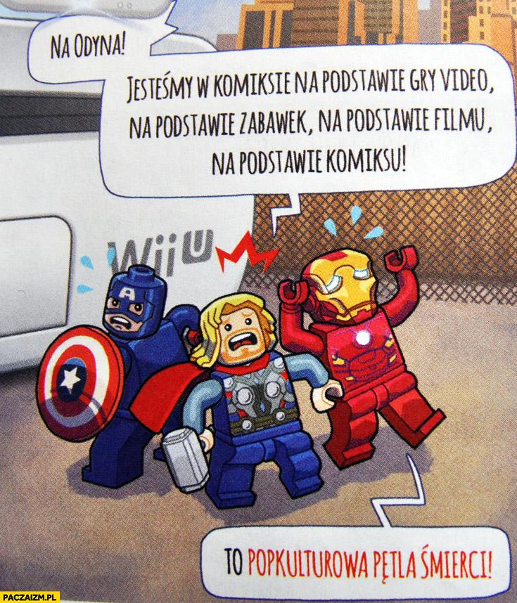 Na Odyna jesteśmy w komiksie na podstawy gry wideo na podstawie zabawek na podstawie filmu komiksu popkulturowa pętla śmierci LEGO