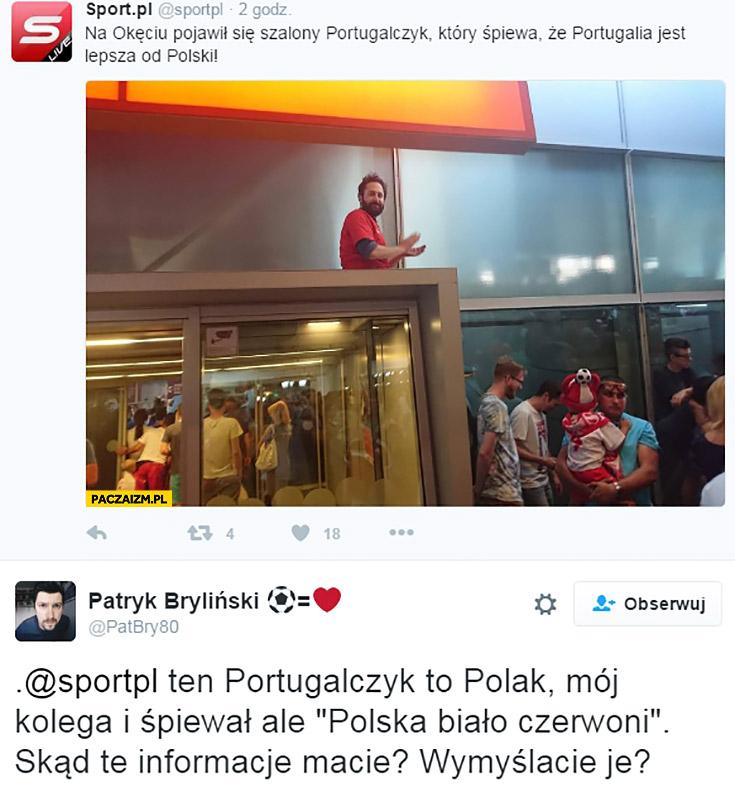 Na Okęciu pojawił się szalony Portugalczyk, który śpiewa, że Portugalia jest lepsza od Polski Sport pl