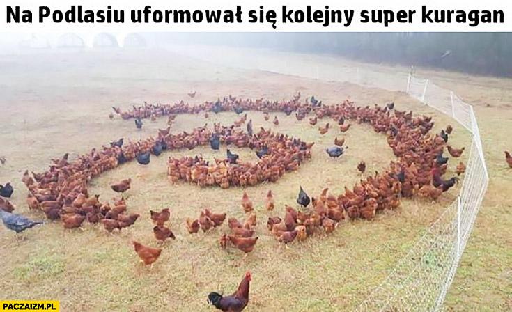 Na Podlasiu uformował się kolejny super kuragan huragan