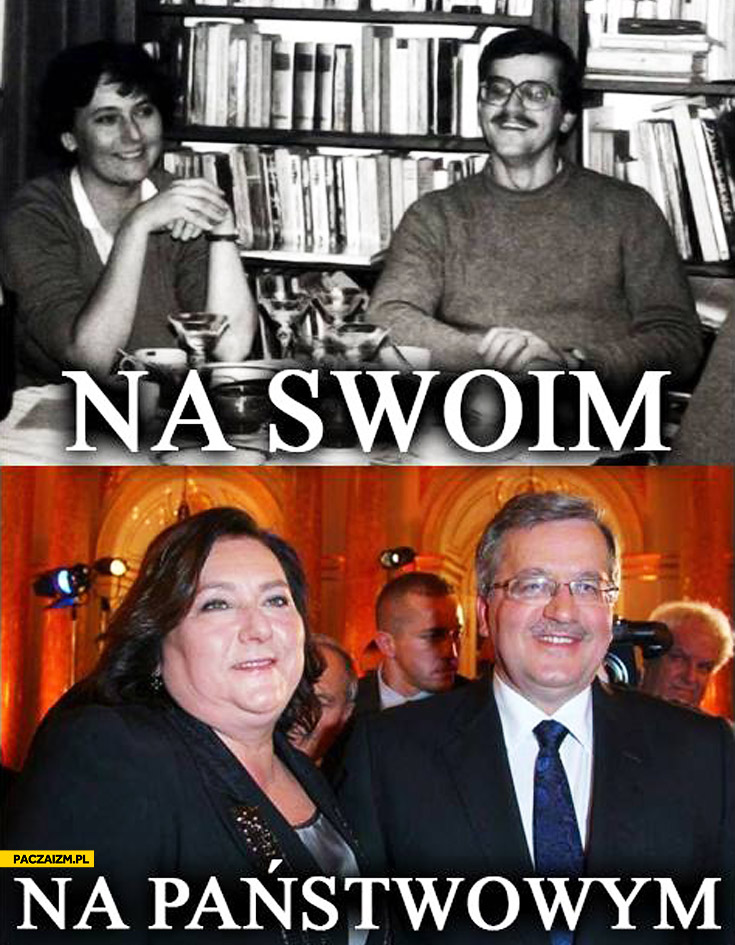 Na swoim na państwowym Komorowscy Anna Bronek Komorowski