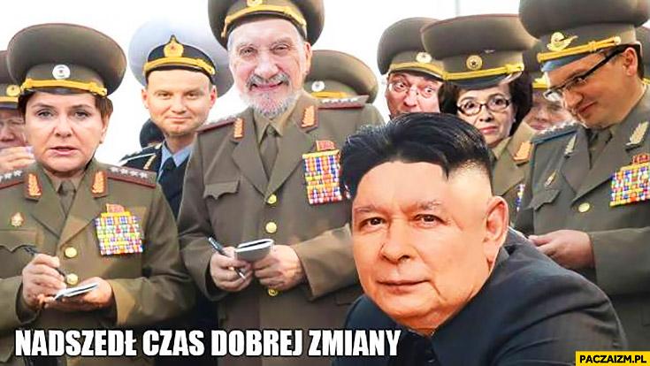 Nadszedł czas dobrej zmiany PiS Kaczyński Kim Jong Un Korea Północna