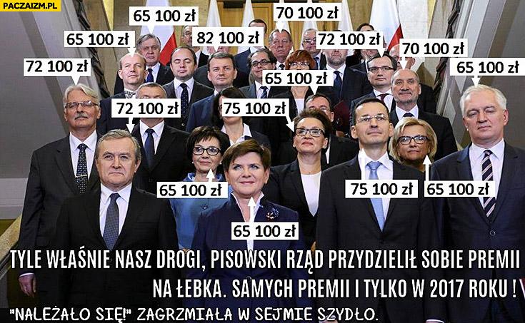 Nagrody dla posłów PiS infografika kto ile dostał