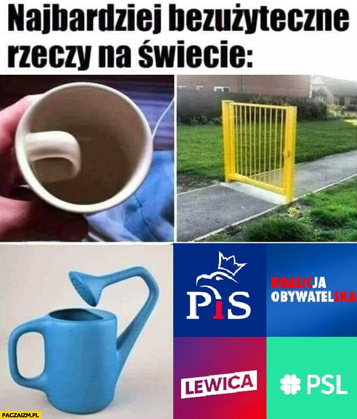 Najbardziej bezużyteczne rzeczy na świecie polskie partie polityczne banda czworga
