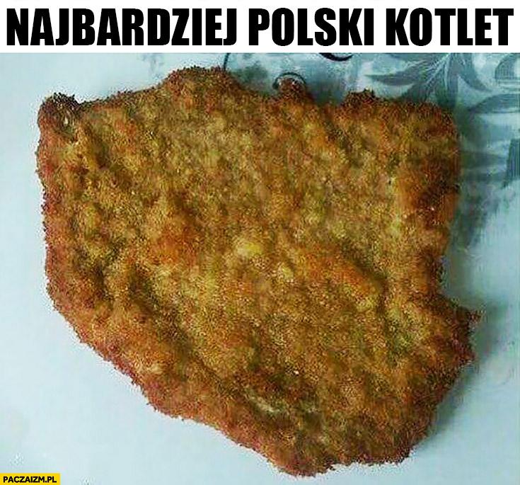 Najbardziej polski kotlet kształt kontur Polski