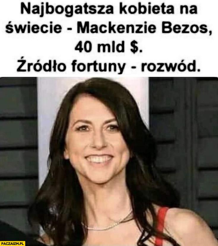 Najbogatsza kobieta na świecie Mackenzie Bezos 40 miliardów źródło fortuny rozwód