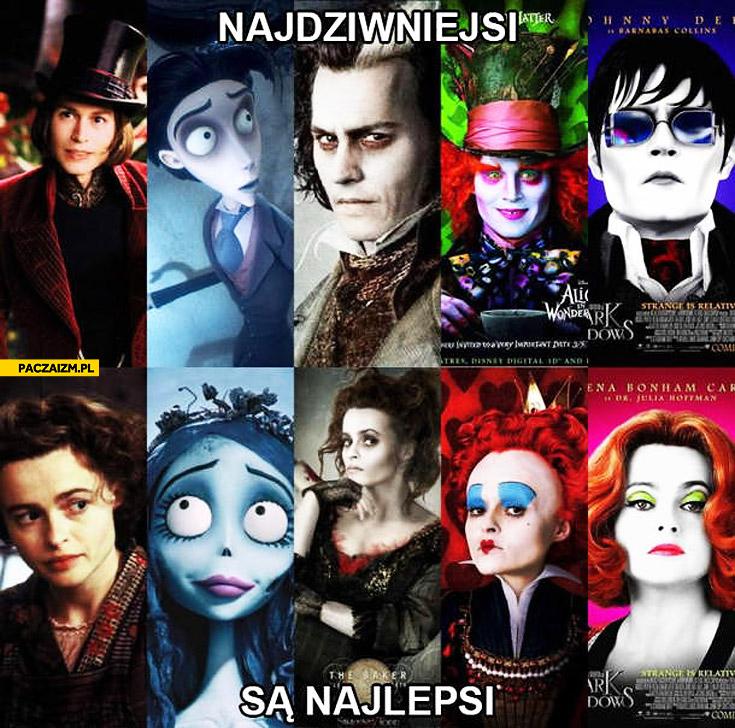 Najdziwniejsi są najlepsi Johnny Depp Helena Bonham Carter