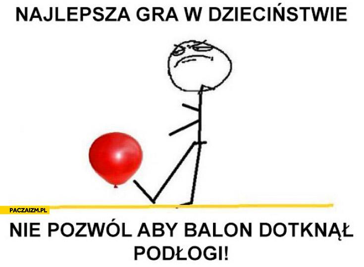 Najlepsza gra w dzieciństwie nie pozwól aby balon dotknął podłogi