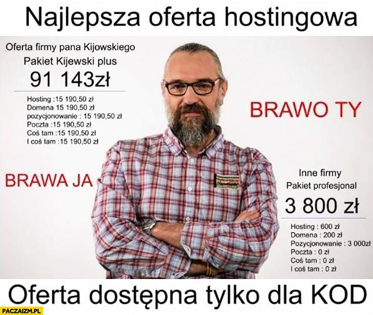 Najlepsza oferta hostingowa Mateusz Kijowski oferta dostępna tylko dla KOD