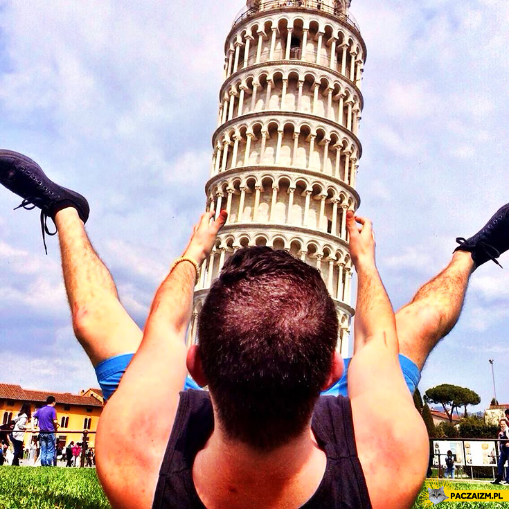 Najlepsze zdjęcie z krzywa wieżą w Pizie