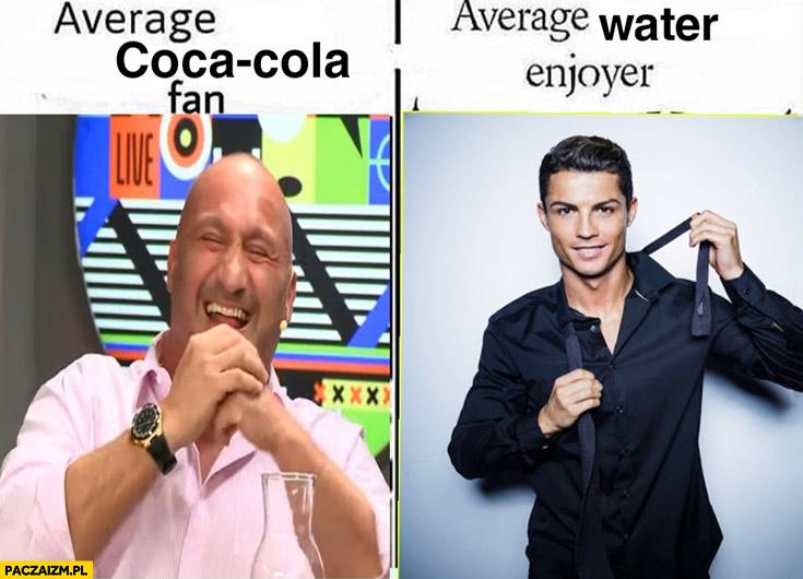 Najman fan coca coli vs Ronaldo fan wody