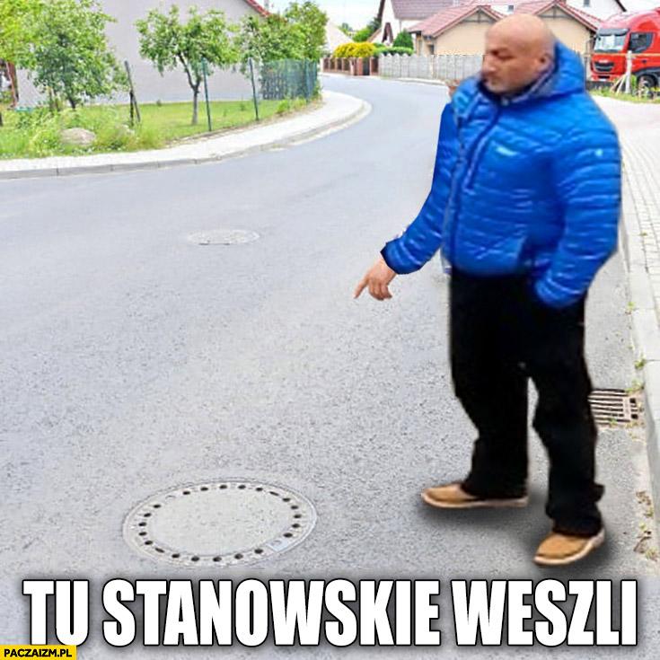 Najman tu Stanowskie weszli studzienka kanalizacyjna