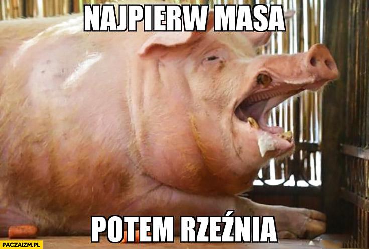 Najpierw masa potem rzeźnia świnia