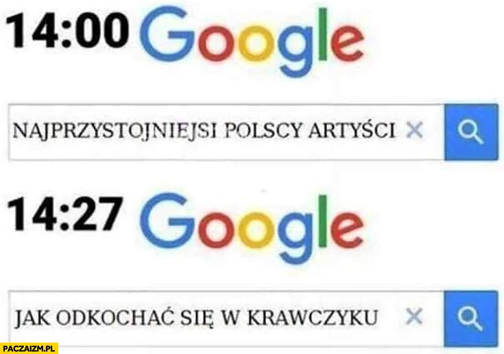 Najprzystojniejsi Polscy artyści jak odkochać się w Krawczyku wyszukiwarka Google