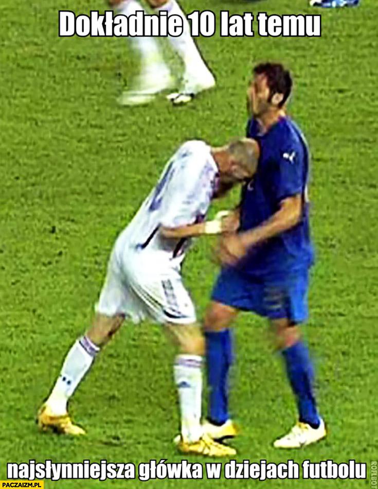 Najsłynniejsza główka w dziejach futbolu Zidane vs Materazzi