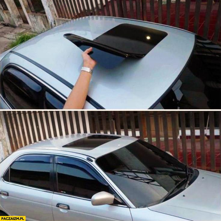 Naklejka na dach udawany szyberdach