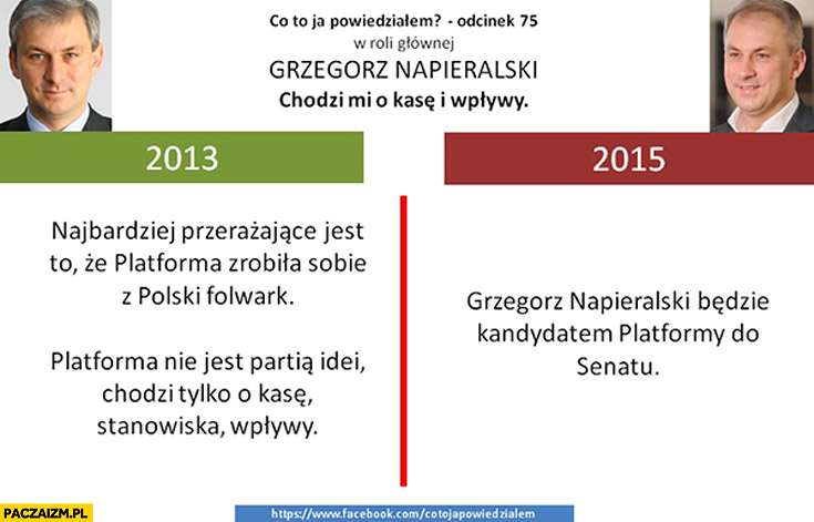 Napieralski 2013: Platforma zrobiła sobie z Polski folwark, chodzi tylko o kasę stanowiska wpływy 2015 Napieralski kandydatem PO do senatu