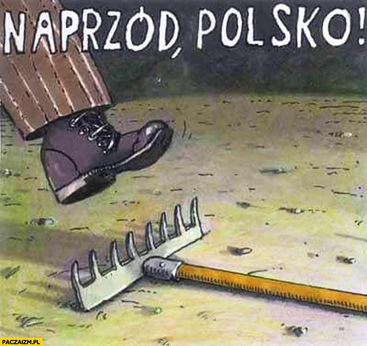 Naprzód Polsko nadeptuje na leżące grabie