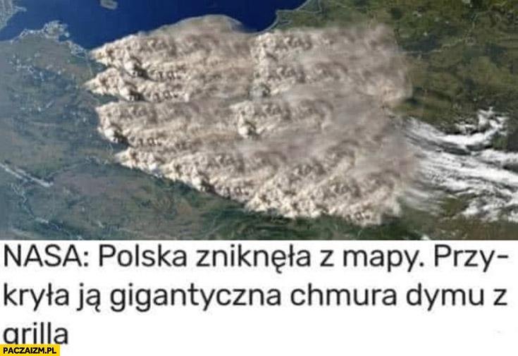 NASA: Polska zniknęła z mapy, przykryła ją gigantyczna chmura dymu z grilla majówka