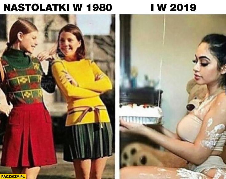 Nastolatki w 1980 vs w 2019 porównanie