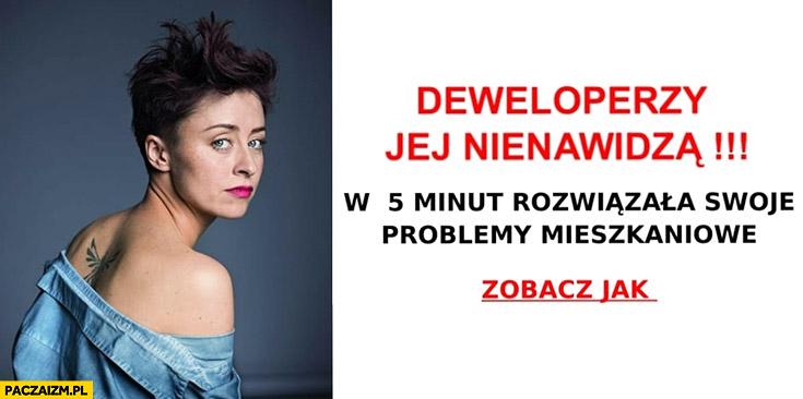 Natalia Przybysz deweloperzy jej nienawidzą, w 5 minut rozwiązała swoje problemy mieszkaniowe zobacz jak aborcja
