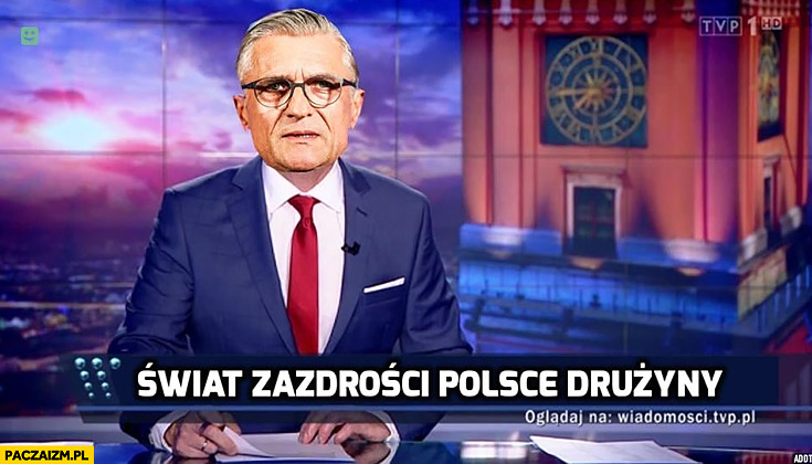 Nawałka Wiadomości TVP świat zazdrości Polsce drużyny pasek TVPis