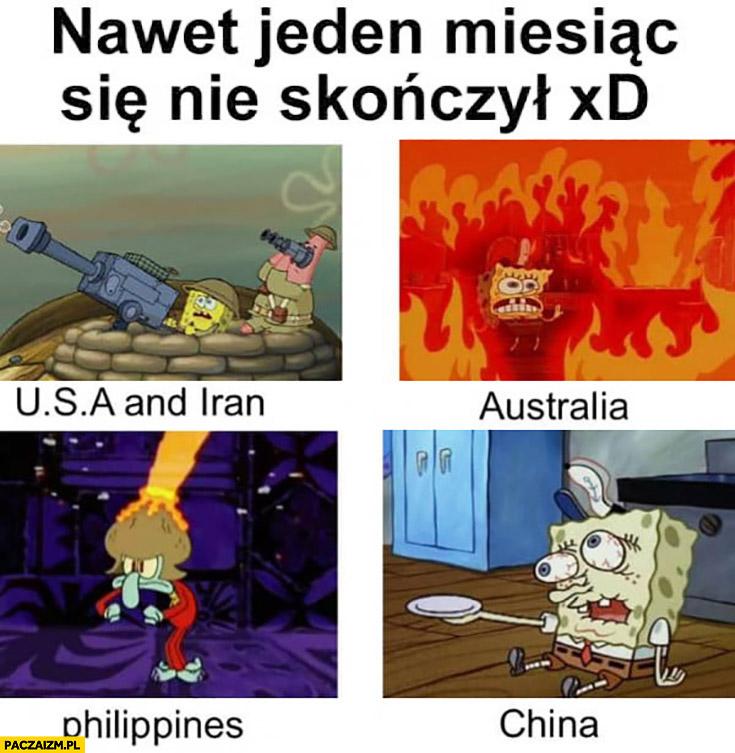 Nawet jeden miesiąc się nie skończył: pożar w Australii, wirus w Chinach, wojna w Iranie, wulkan Filipiny