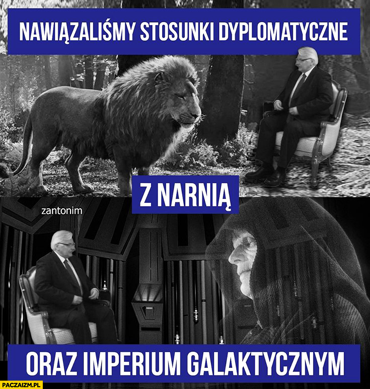Nawiązaliśmy stosunki dyplomatyczne z Narnią oraz Imperium Galaktycznym Waszczykowski