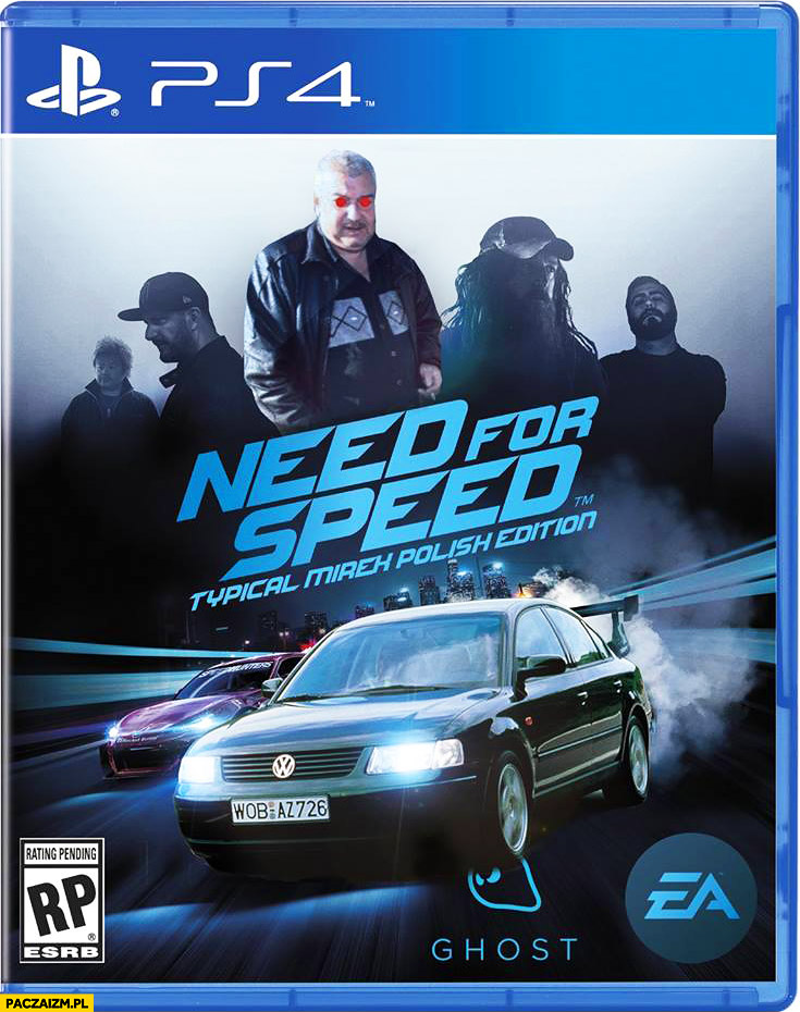 Need for Speed typical Mirek Polish Edition Passerati