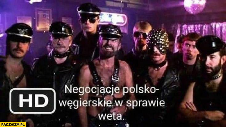 Negocjacje Polsko-Węgierskie w sprawie weta faceci homo geje