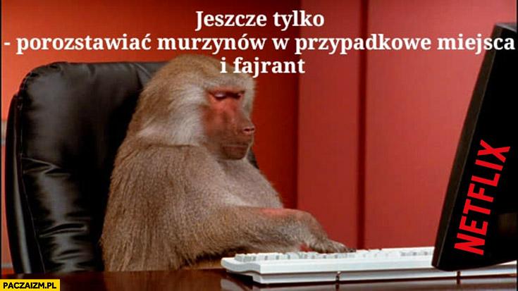 Netflix Wiedźmin jeszcze tylko porozstawiać murzynów w przypadkowe miejsca i fajrant małpa