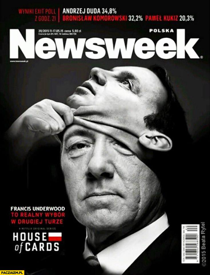 Newsweek Francis Underwood maska Andrzeja Dudy House of Cards