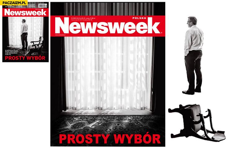 Newsweek okładka prosty wybór bez Bronka Komorowskiego