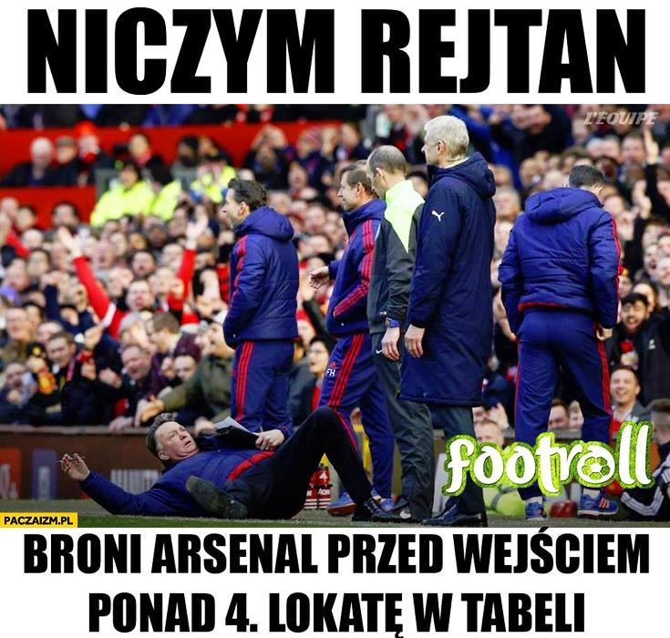 Niczym Rejtan broni Arsenal przed wejściem ponad 4. lokatę w tabeli Van Gaal