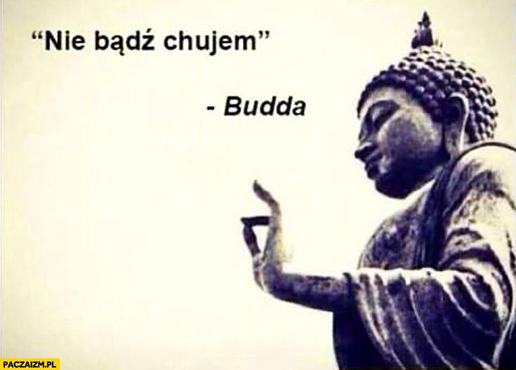 Nie bądź chamem Budda cytat