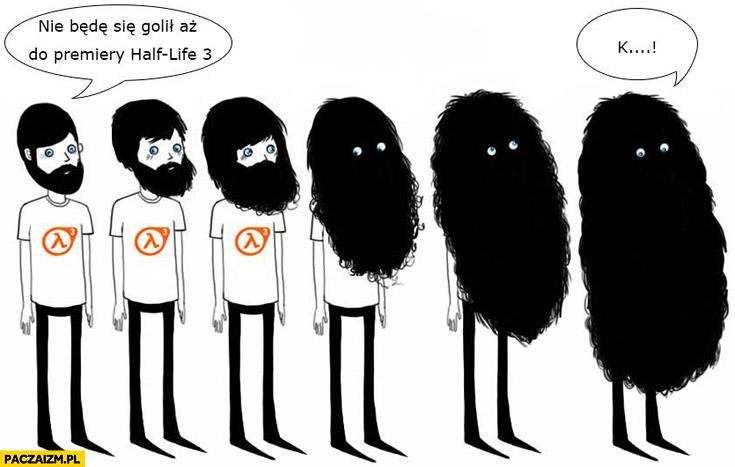 Nie będę się golił aż do premiery Half-life 3