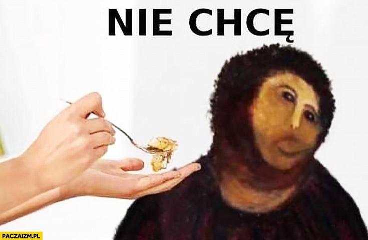 Nie chce jedzenia mem obraz Jezusa przeróbka poprawka