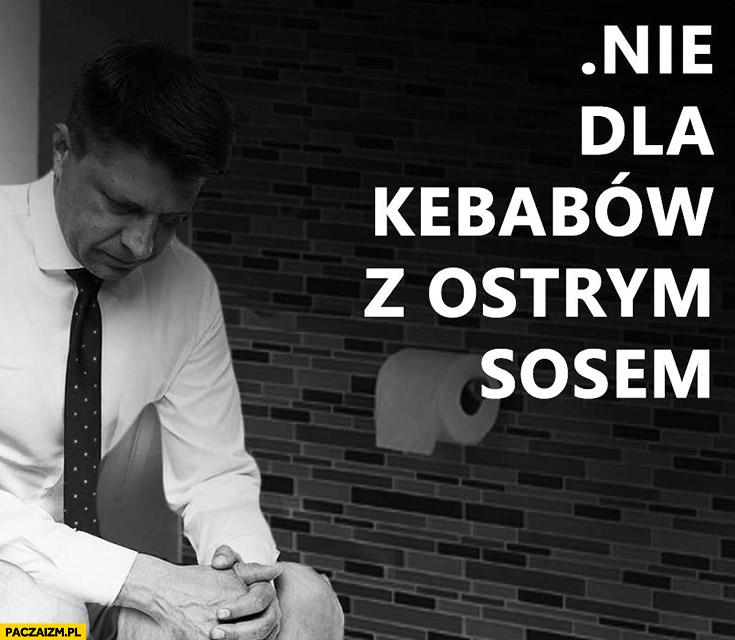 Nie dla kebabów z ostrym sosem Petru na kiblu Nowoczesna