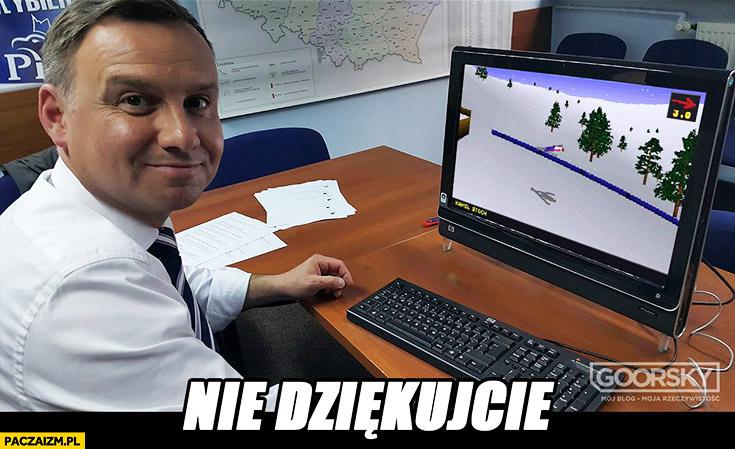 Nie dziękujcie. Andrzej Duda Deluxe Ski Jump Goorsky
