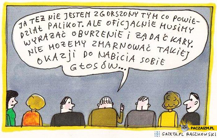 Nie jestem zgorszony tym co powiedział Palikot Raczkowski