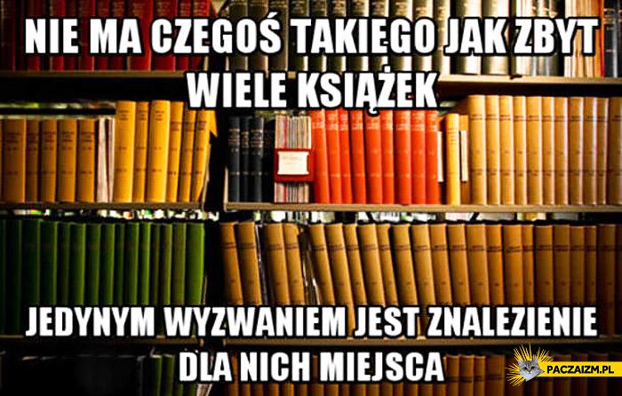 Nie ma czegoś takiego jak zbyt wiele książek