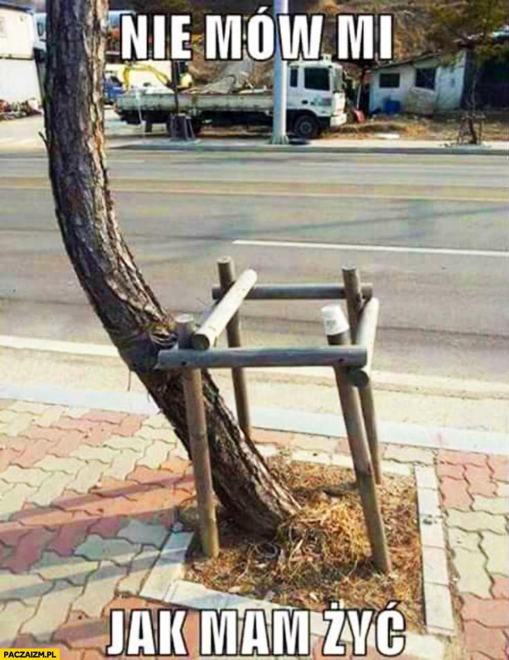 Nie mów mi jak mam żyć drzewo barierka