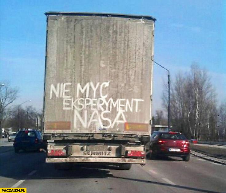 Nie myć eksperyment NASA TIR